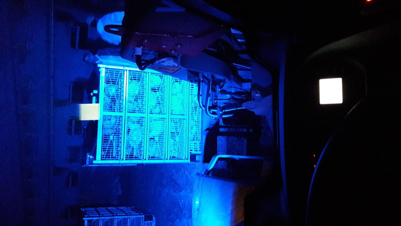 meer licht tijdens laden met blauwe led lampen nieuws voor pluimveehouders. Black Bedroom Furniture Sets. Home Design Ideas