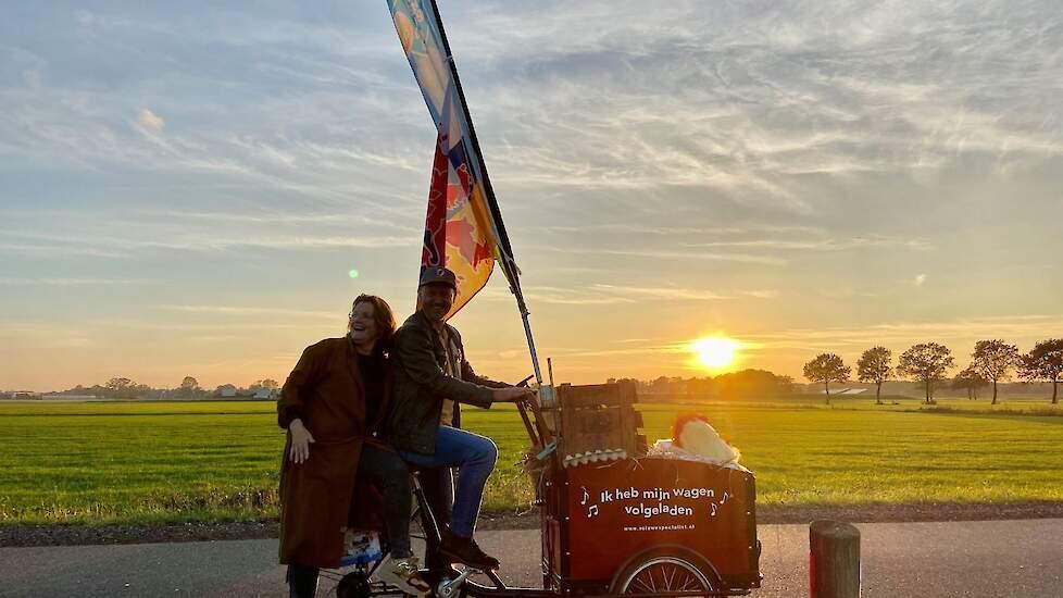 Donderdag eindigde de 'Zuid route' bij familie Bennenbroek in Asten Heusden. De zon ging al bijna onder en de kippen op stok.