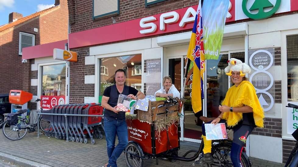 Vera Lardinois vertrok vanuit het Limburgse Eckelrade en ging onderweg langs bij Omroep Limburg, het provinciehuis en een plaatselijke supermarkt om het ei onder de aandacht te brengen.